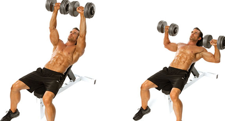 incline dumbell bench press